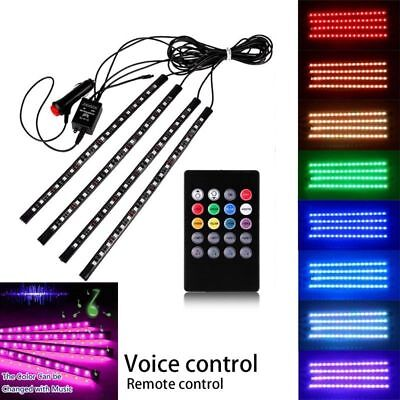 4x 8color rgb music wireless remote control interior led strip under car weisiji cad. Black Bedroom Furniture Sets. Home Design Ideas