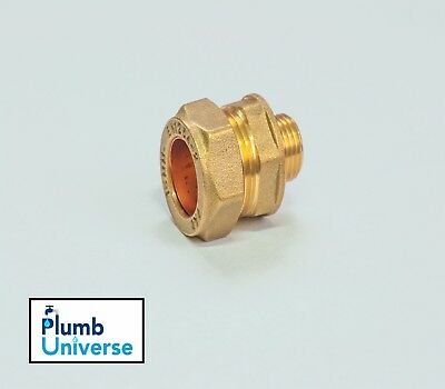 """15mm Compression x 1/4"""" Male BSP Brass Reducer Fitting Threaded"""