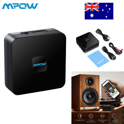 Mpow Wireless Bluetooth Receiver Stereo Audio Adapter 3.5mm Music RCA Home AU