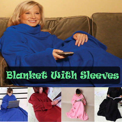 Cuddle Fleece Snuggie Blanket With Sleeves TV Choose from 5 colours