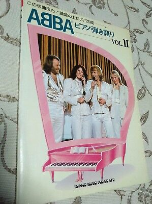 Abba Japan Songbook Vol. II 1979 Official Polar Music (sheet music)