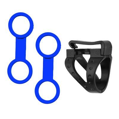 3pcs Detachable Clip & Dual Ring Type Diving Silicone Snorkel Keeper Holder