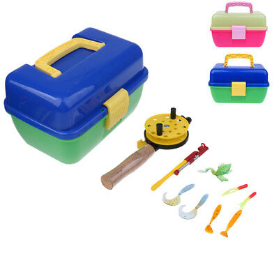 Ice Fishing Set Lures & Rod Box Pole Winter Children Kids Fishing Tackle