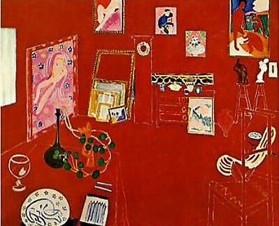 Henri Matisse The Red Studio MOMA Exhibition 1978•38x44 Oversize Poster Rare