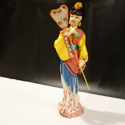 Beautiful  Vintage Asian Chinese-Japanese Geisha Woman Oriental Doll