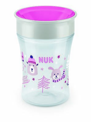 NUK 10255366 Magic Cup 230 ml, neuartiger Trinkrand,Wintermotiv