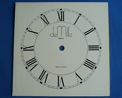 "RARE DE MILLE CLOCK FACE 8""  Made in England"