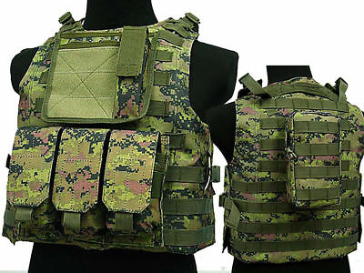 Tactical Assault Molle Combat Vest Magazine Pouch Airsoft Paintball Military WLD