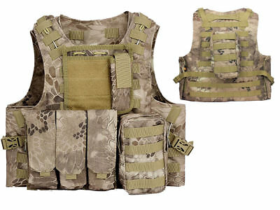 Tactical Assault Molle Combat Vest Magazine Pouch Airsoft Paintball Military BNE