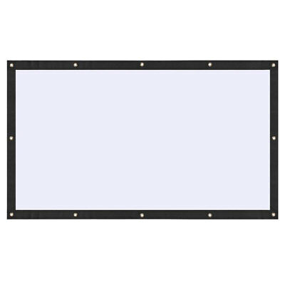 Soft Foldable 100 inch 16:9 Polyester Movie Projection Screen Theater Outdoor