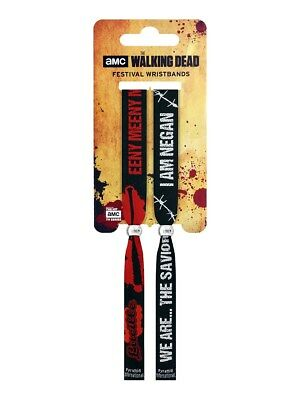 The Walking Dead The Saviors Black Festival Wristbands