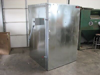 batch powder coat electric curing oven NEW flat floor model 6ft tall inside