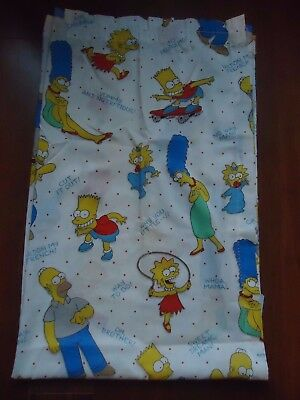 Vintage Sheet JCPENNY The Simpsons Sheet/Material/Fabric Homer Marge Bart Lisa