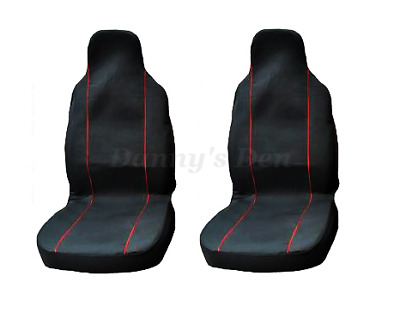 2x Black Red Piping Front Car Seat Covers Cover For Audi A4 Allroad 2016 On
