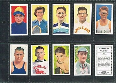 HILL - Celebrities of Sport (Hill Name) 1939 PART SET 20/50 Cig Cards (CAT. £50)