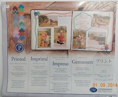 CREATIVE MEMORIES PRINTED PHOTO MOUNTING SCRAPBOOK PAPER, 10x12 - NIP