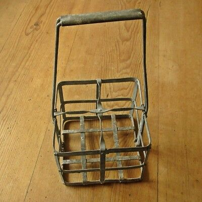 Vintage bottle carrier picclick uk - Wire wine bottle carrier ...