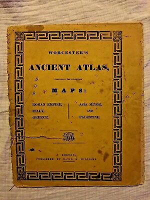 Worcester's Ancient Atlas - 1840 - Roman Empire, Italy, Greece, Asia Minor +