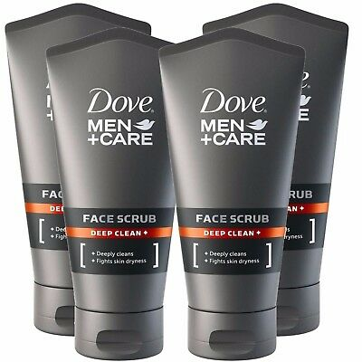 Dove Men + Care Deep Clean Face Facial Scrub 150ml x 4 FREE POSTAGE