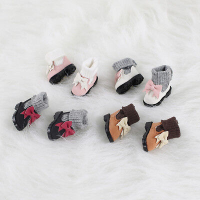 4 Paar High Top Bowknot Stiefel Schuhe für AZONE Licca 1/6 Blythe Puppe