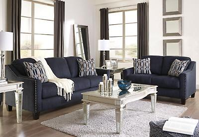 Scottdale Modern Living Room Furniture Set Blue Microfiber Sofa Couch Loveseat 1 173 73 Picclick