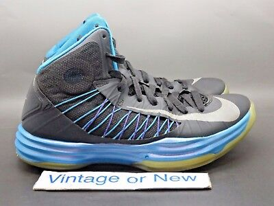 super popular 41e67 bde6c Nike Lunar Hyperdunk 2012+ Sports Pack Blue Glow Basketball Shoes sz 7