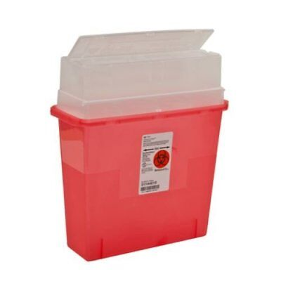 Box of 6 Sharps Container Biohazard Needle Disposal 5 Quart Size Part # 31144010