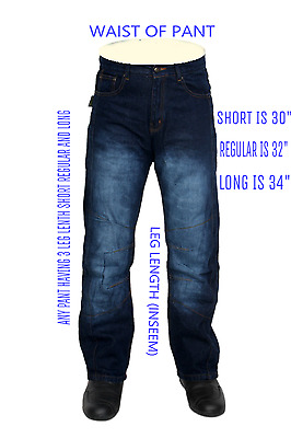 Denim Men's Motorcycle Motorbike padded Trousers jeans with protective lining ,