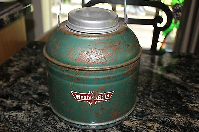 Vintage Western Field Insulated Picnic Cooler Jug Green 50s 60s
