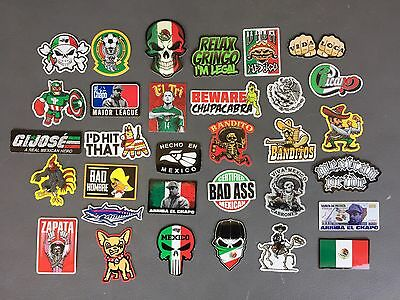 MEXICAN Hard Hat Stickers 30+ MEXICO HardHat Sticker & Decals, Helmet, Tool Box