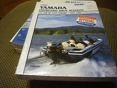 Clymer Yamaha Outboard Shop/Repair Manual, 115-250 HP 2-stroke 99-02 B789 New