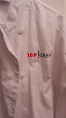 Top Chef TV Show white uniform coat size M