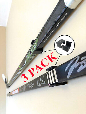 3 Pack Hockey Stick Hanger Holder Display Nhl Autographed Game Used Wall Mount