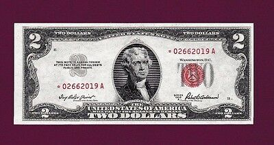 Fr.1510  $2  1953 A  STAR  LEGAL TENDER RED SEAL NOTE SN * 02662019 A GEM UNC