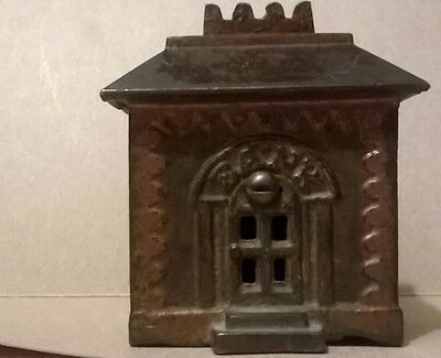 Small Antique Crown Cast Iron Bank ******RARE******