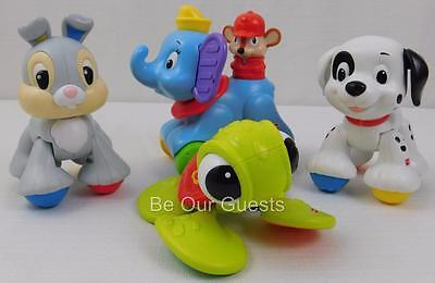 Fisher Price Disney Baby Amazing Animals Lot Rollin Dumbo Squirt Thumper Patch
