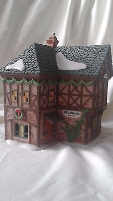 Dept 56 T. PUDDLEWICK SPECTACLE SHOP #58331 Christmas Dickens Village Series EC