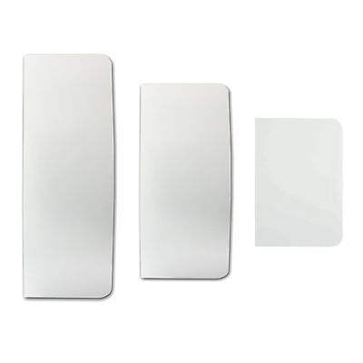 PME Set of 3 Plain Edge Plastic Scrapers for Smoothing Cake Buttercream Icing