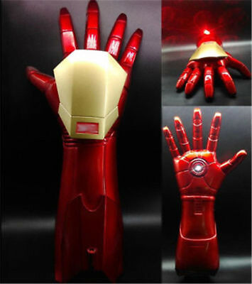 The Avengers Iron Man 1:1 Stark Updated Glove LED Light Hand with Laser Cosplay