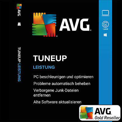AVG PC TuneUp 2019 2 PC 1Jahr / TuneUp Utilities Vollversion/Upgrade DE-Lizenz