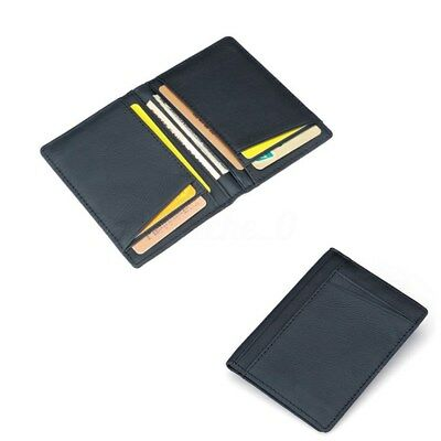 AU Men Slim PU Leather Bifold Wallet Thin ID Credit Card Holder Mini Money Case