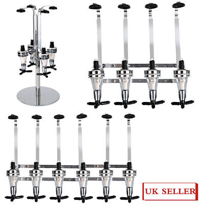 4/6 Bottle Stand Rotary Wall Mounted Stand Drinks Optics Bar Butler Spirits Wine