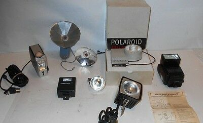 Vintage Camera Flash accesories lot, Canon,Polaroid,Honeywell,Atlas warner+More