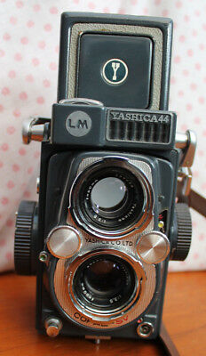 Vintage Cased Yashica 44 LM Camera TLR - Used Not Sure If Working