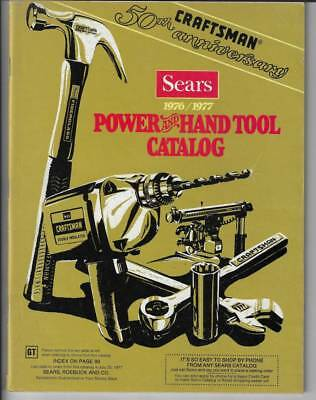 SEARS 1976/1977 CRAFTSMAN 50th ANNIVERSARY POWER & HAND TOOL CATALOG