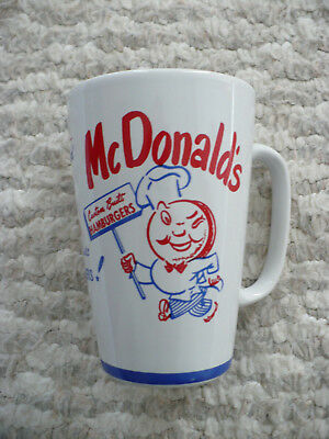 Vintage McDonalds Tall Latte Coffee Mug Golden Arches Group II Communications