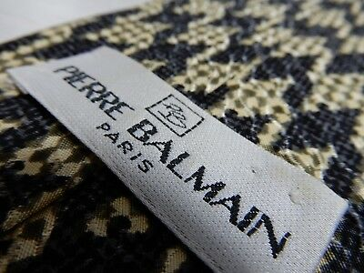 145 Pierre Balmain Tie Tied Unique Paris Made In Italy True Vintage Silk