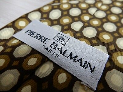 146 Pierre Balmain Tie Tied Completely Unique Paris Made In Italy Vintage Silk
