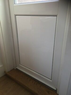 Gloss White Back Door Cat Flap Blanking Cover, Acrylic Plasctic Cover Back Door