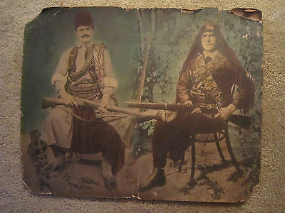 FANTASTIC MILITARIA  Image /Two ARMED to the TEETH ARAB WARRIORS / 16 x 20 /